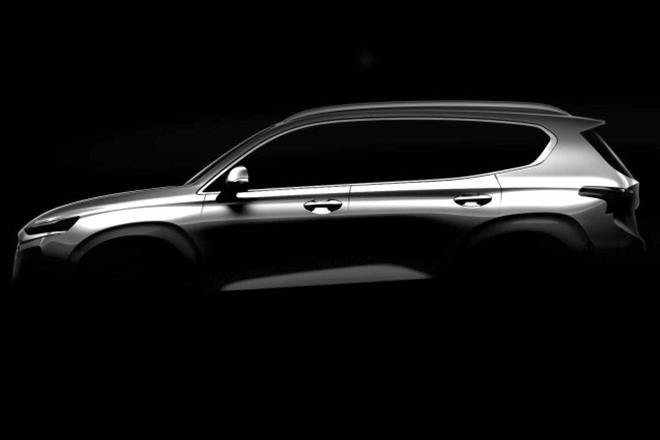 Появились первые изображения нового паркетника Hyundai Santa Fe