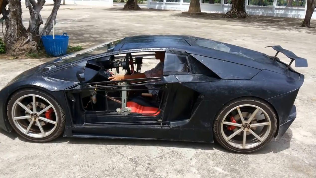 Фермер из Азии сделал копию Lamborghini с мотоциклетным мотором