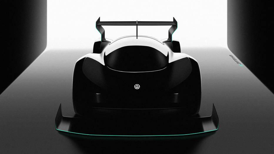 VW продемонстрировал переднюю часть гоночного электрокара
