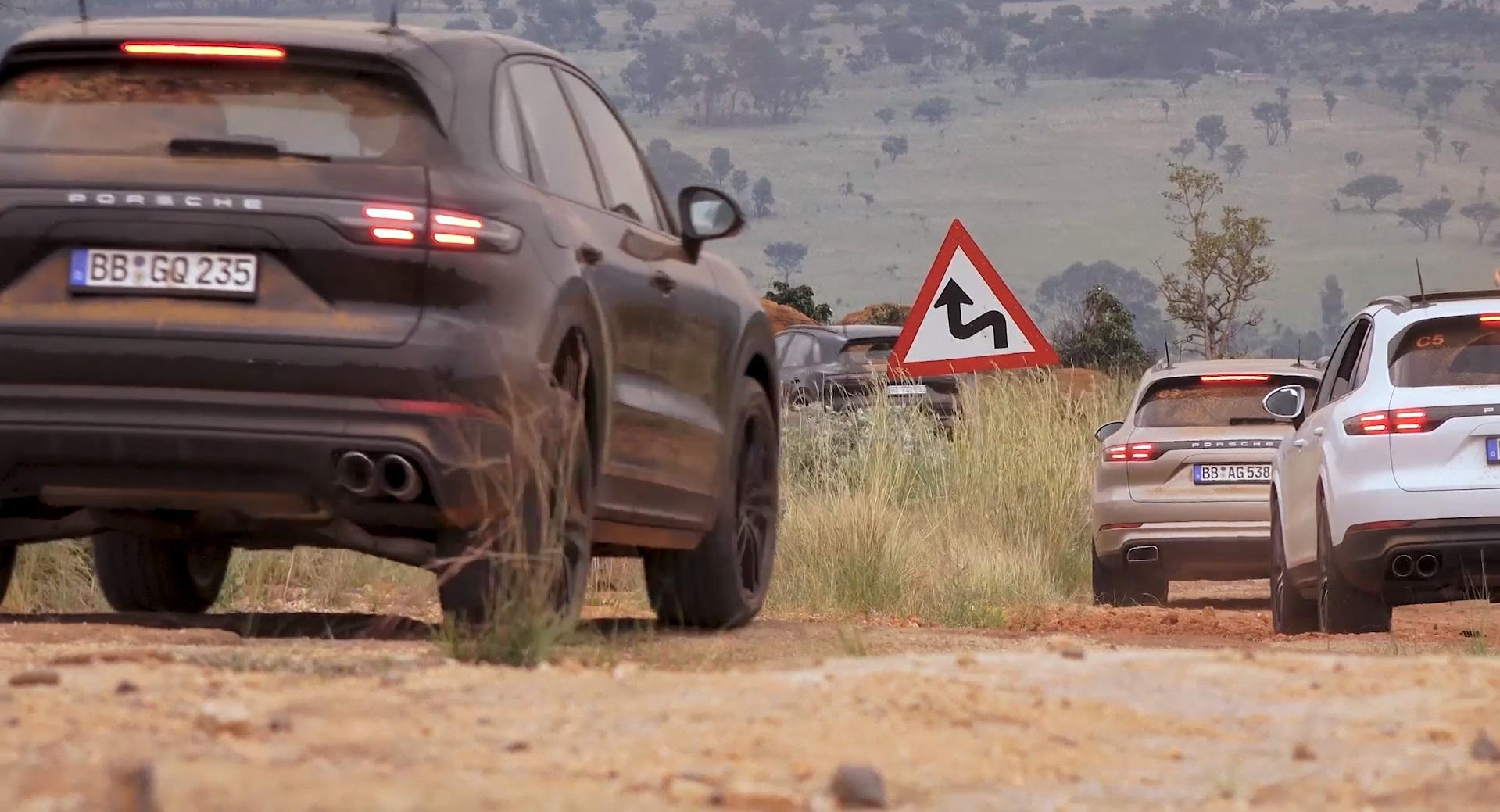 Плагин-гибридный вседорожный автомобиль Порше Cayenne испытали вЮжной Африке