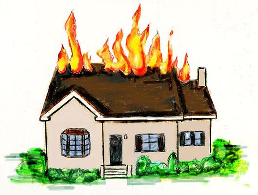 Вселе Кардаилово горел дом, один человек пострадал