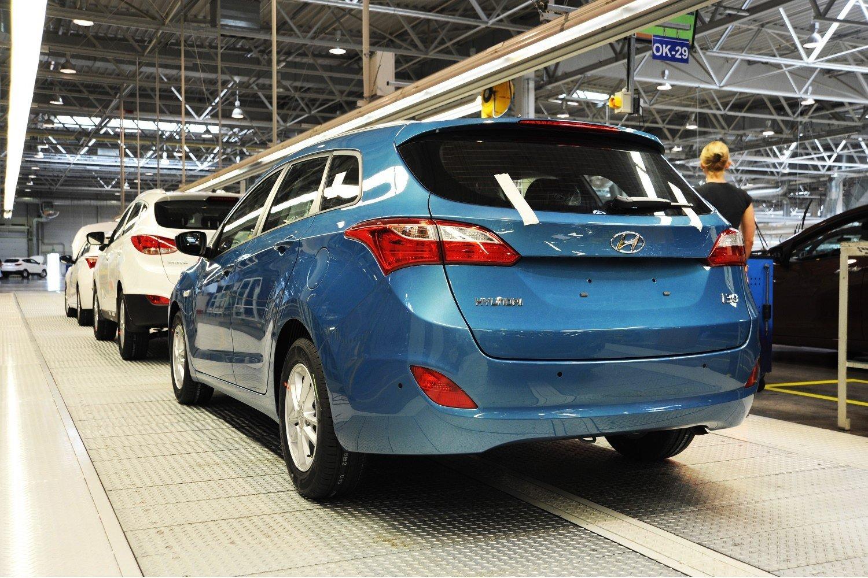 Завод Хёндай вПетербурге сянваря помарт выпустил практически 60 000 машин