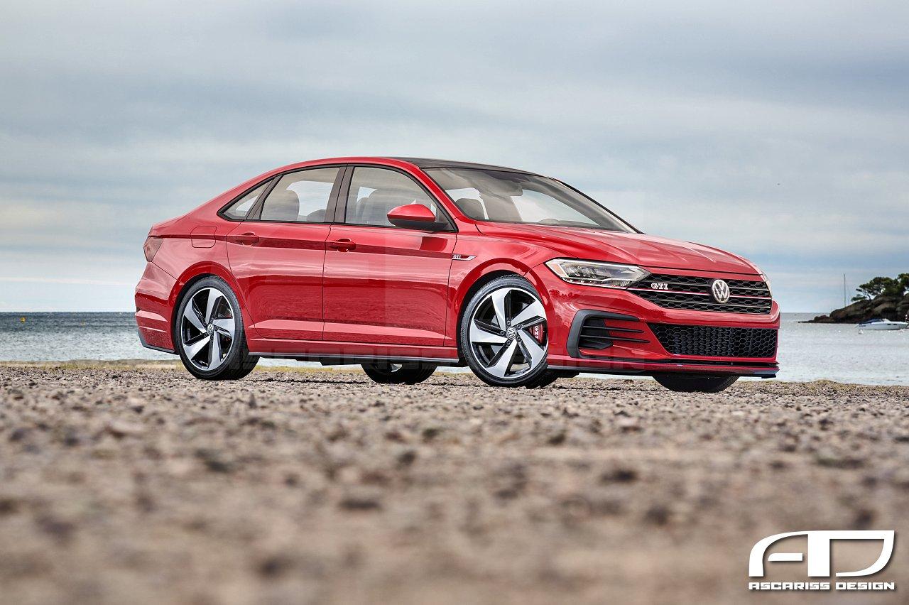 Винтернете появились рендеры нового VW Jetta GTI