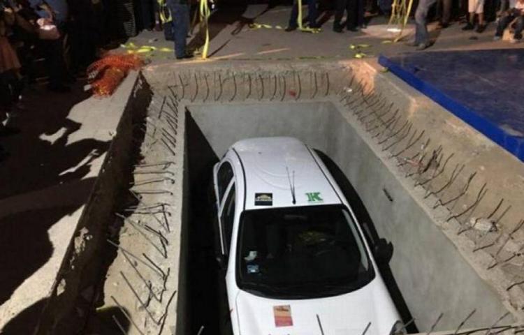 ВМексике автомобиль закопали на50 лет