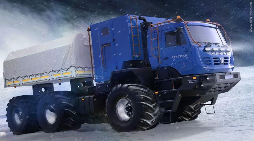 «КамАЗ» представит вторую модель вездехода Арктика вконце 2018