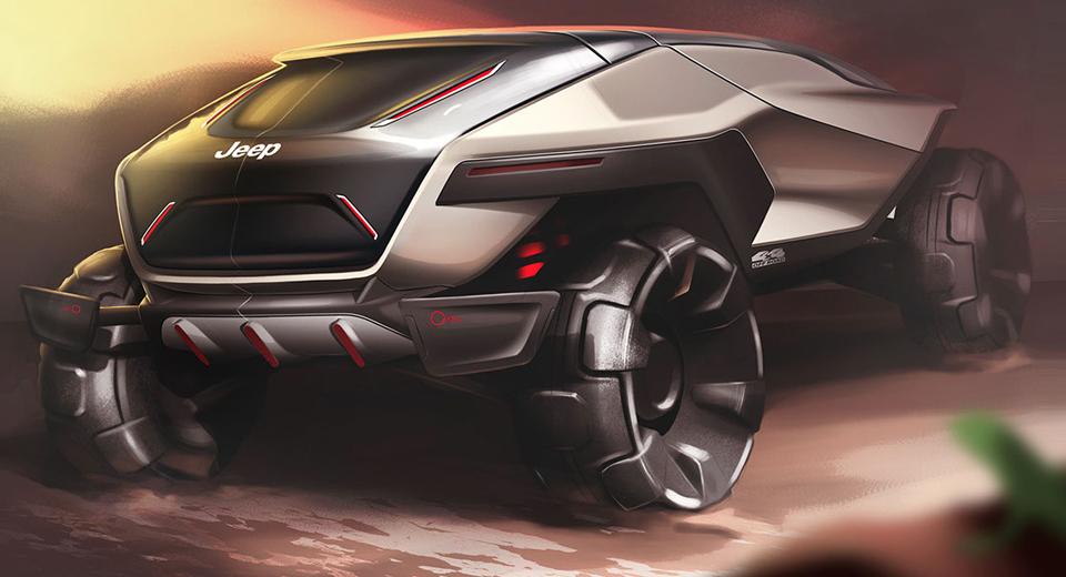 Марка Jeep показала наэскизах собственный джип будущего