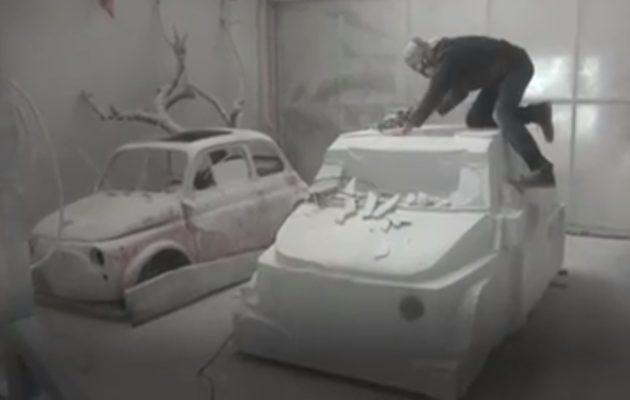 Итальянский скульптор сделает Фиат 500 измрамора