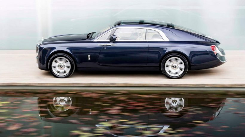 Представлен необычайный автомобиль Роллс Ройс Sweptail