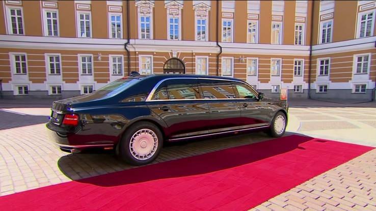 Президентский лимузин Aurus «Кортеж» оборудовали грузовыми шинами «Кама»