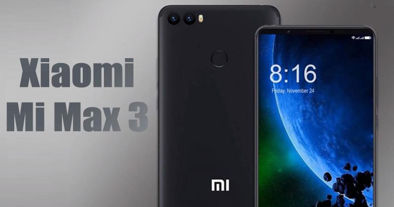 Стали известны характеристики смартфона Xiaomi Mi Max 3