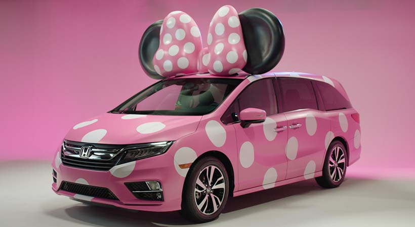 Disney и Хонда Odyssey создали минивэн для Минни Маус