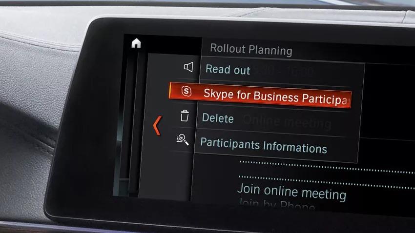 Microsoft установит Skype набортовые компьютеры авто  БМВ