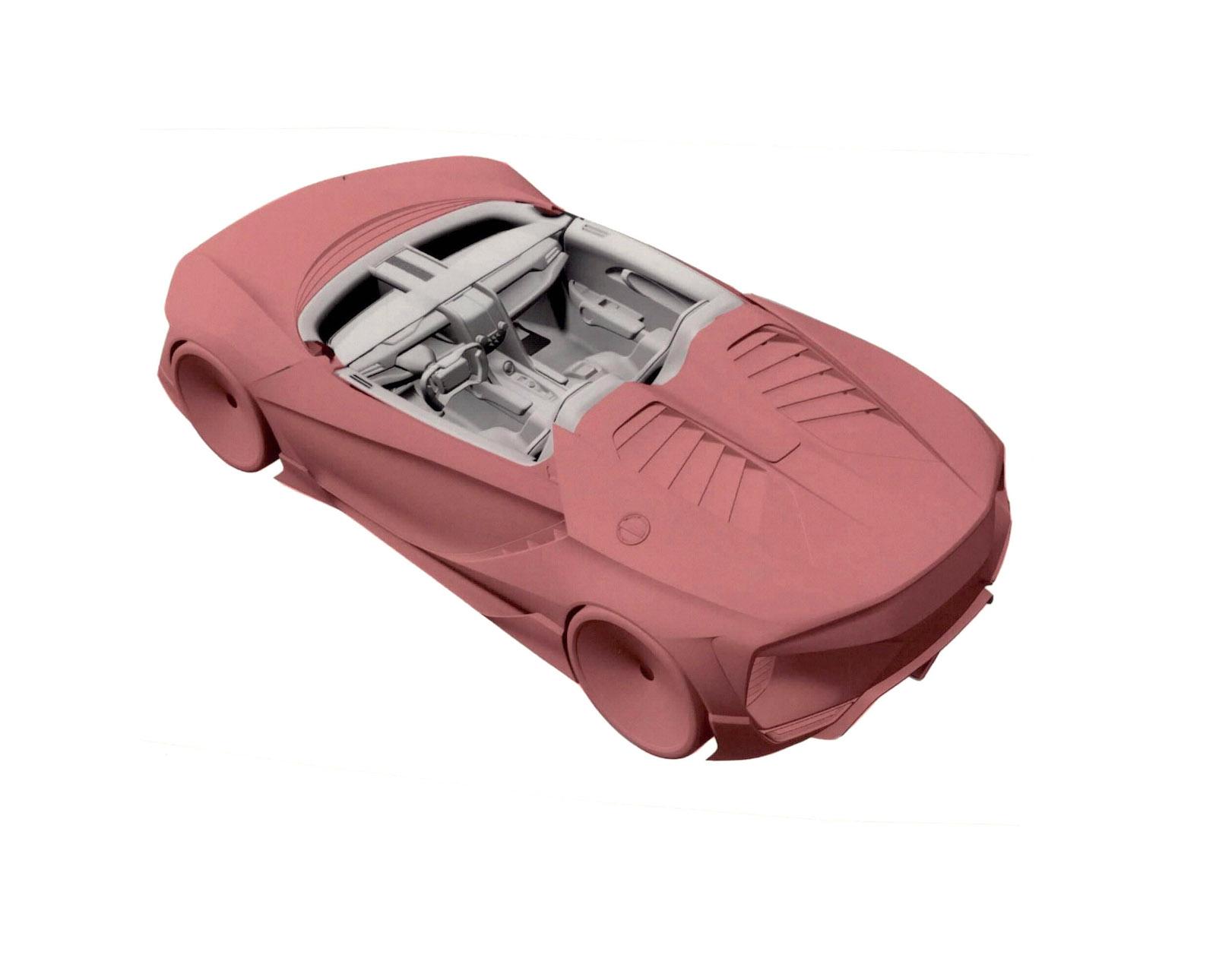 Изображения нового спорткара Хонда