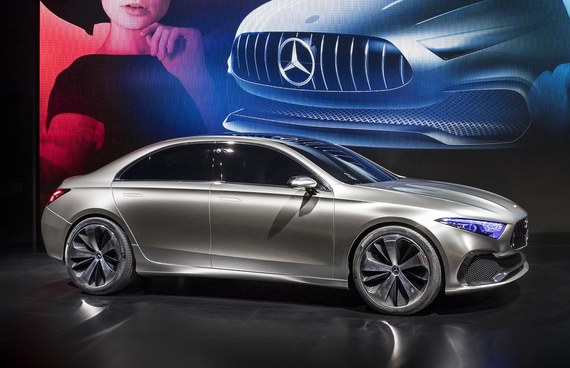 Седан Mercedes Benz A-Class получит высокую обтекаемость