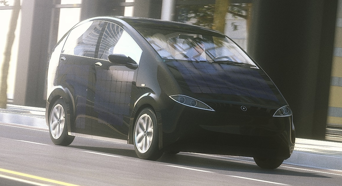 ВГермании представили бюджетный электромобиль насолнечных батареях