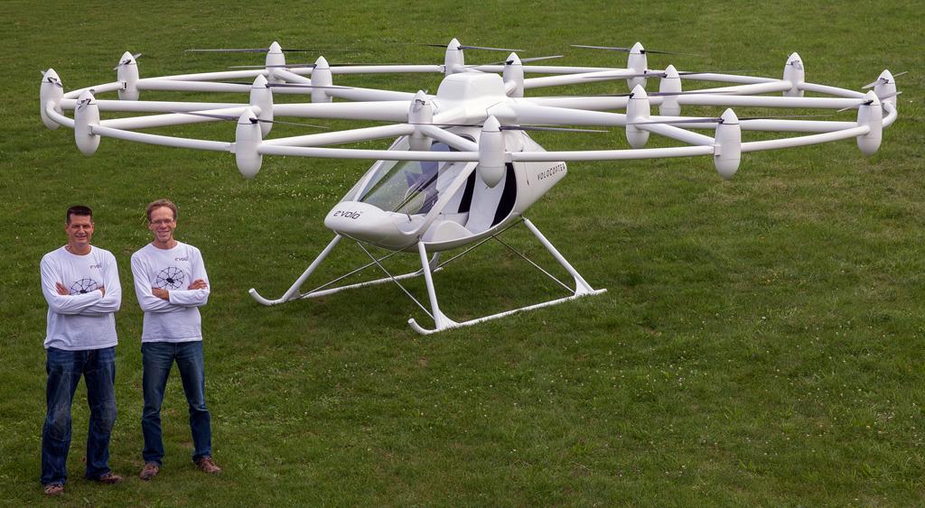 Беспилотные летающие такси отVolocopter проинвестирует Daimler