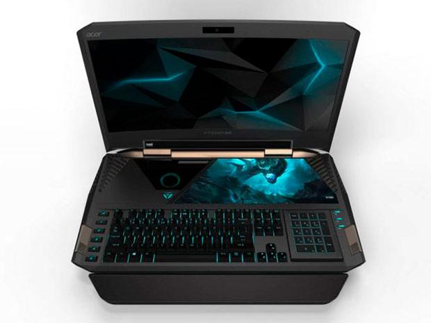 Acer анонсировала 21-дюймовый игровой ноутбук сизогнутым дисплеем