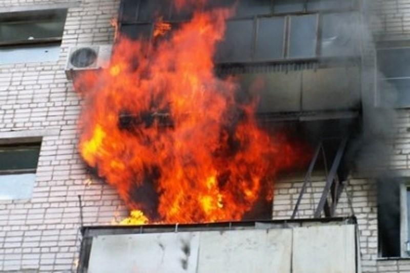 ВКрасноярске выгорела квартира