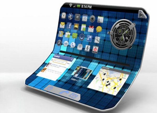 Самсунг запатентовал складной планшет склавиатурой ивстроенной подставкой