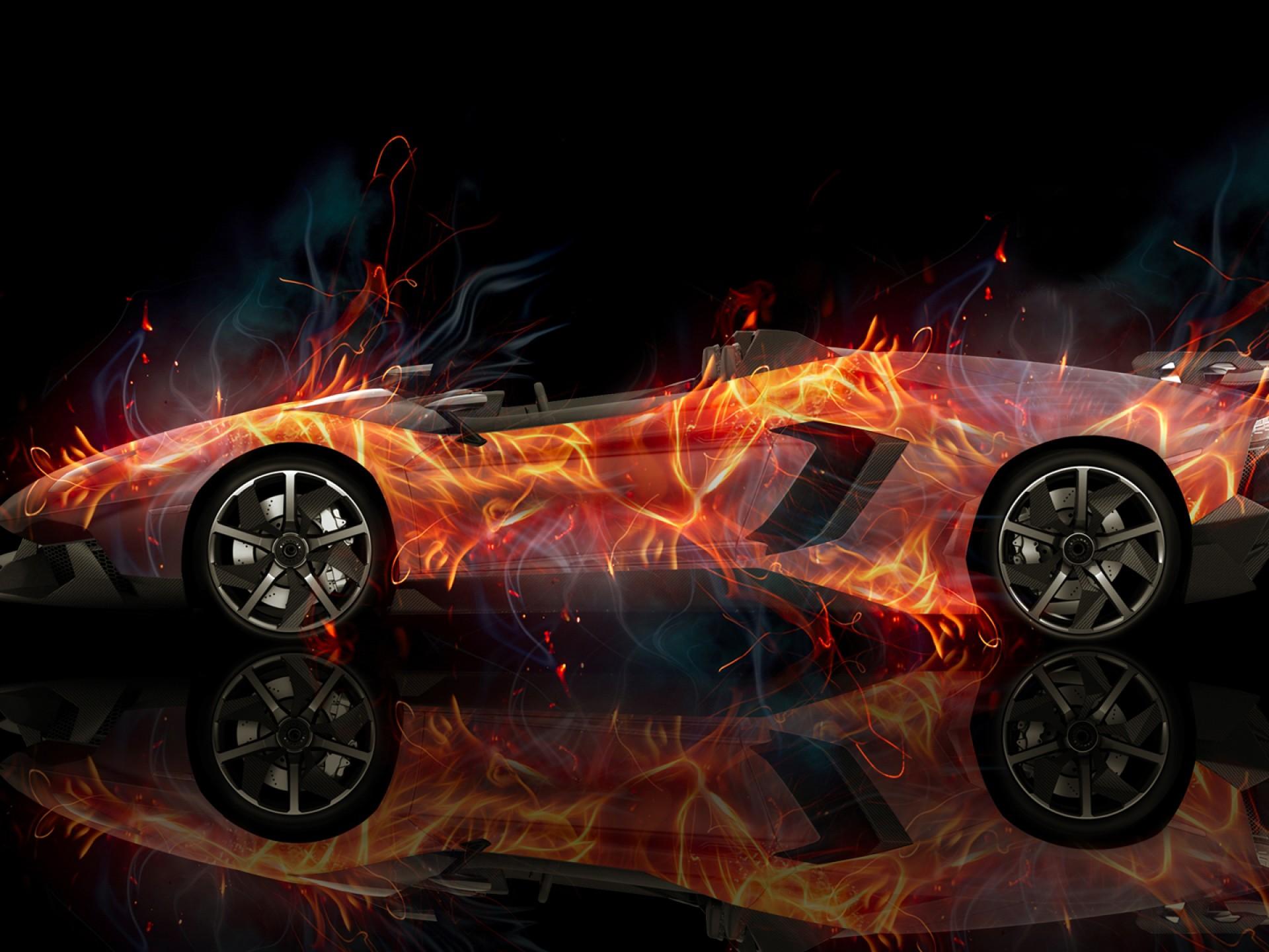 Lamborghini голубая отражение  № 2522931 загрузить
