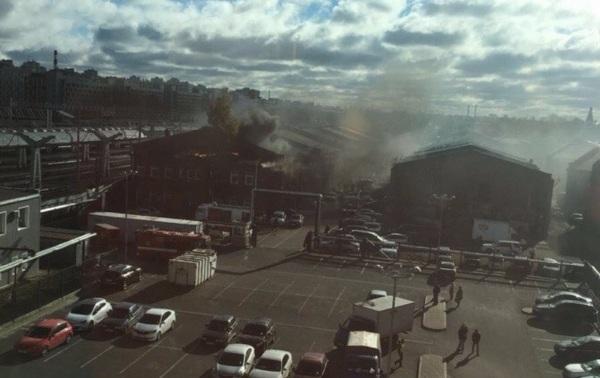 Пожар в помещении около Московского вокзала вПетербурге локализован