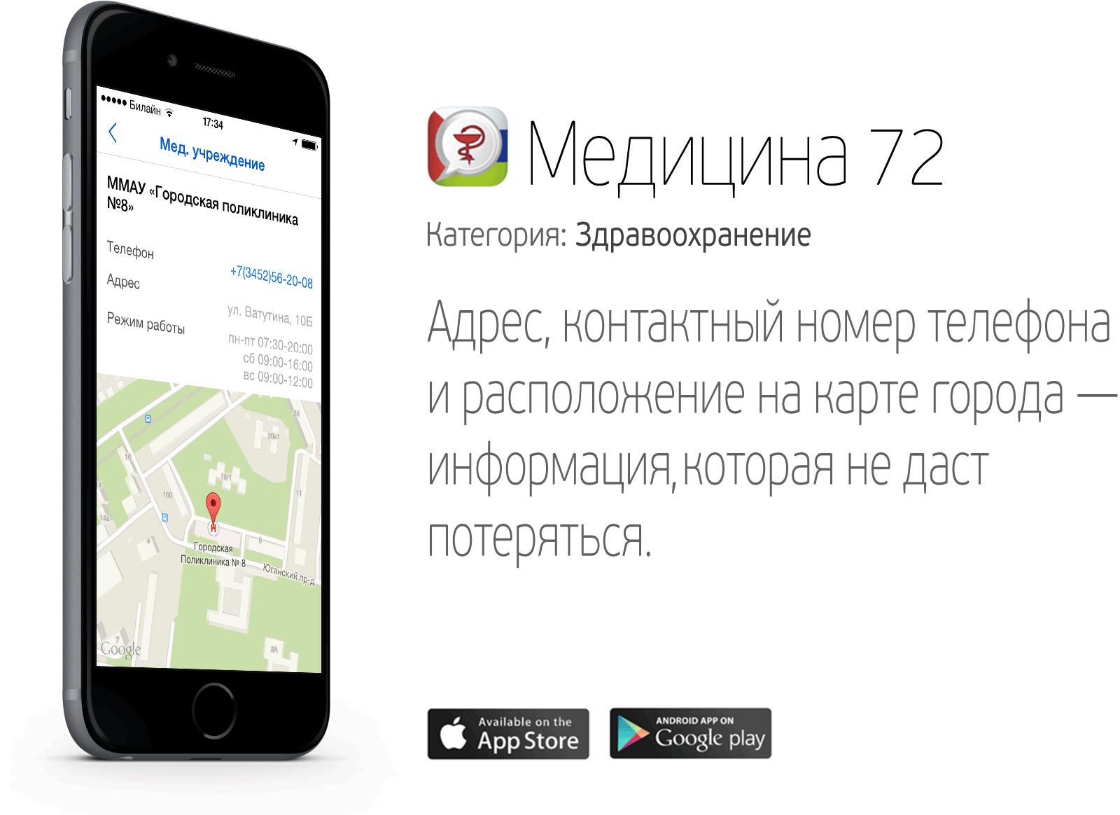 Мобильное приложение «Медицина72» более востребовано уженщин