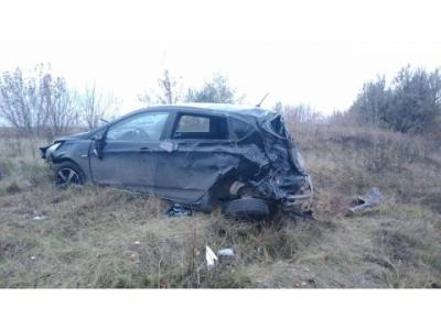 Под Тольятти перевернулся автомобиль ссемьей