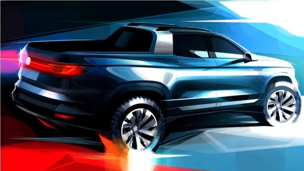 VW продемонстрировал дизайн нового пикапа