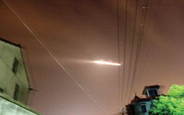 Схожий накосмический корабль объект сняли над Великой Китайской стеной