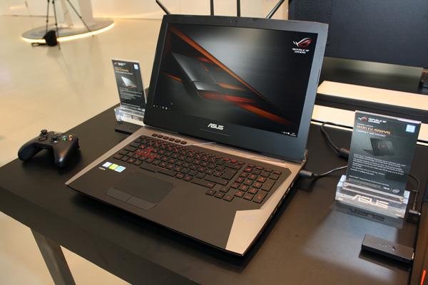 Уигрового ноутбука ASUS ROG G701VI экран сповышенной частотой обновления