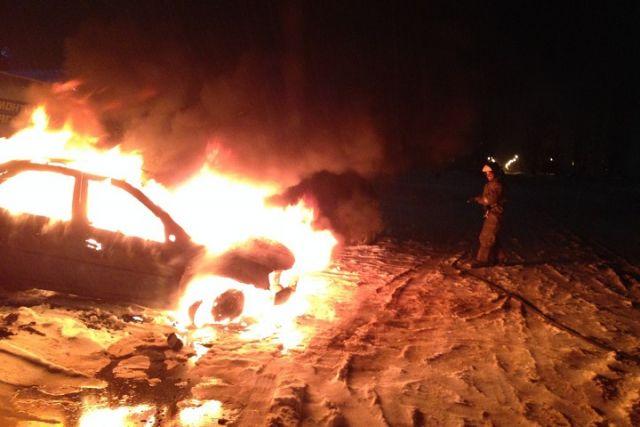 ВЧереповце дотла выгорела иностранная машина