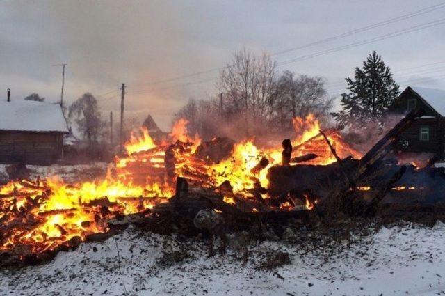 ВЧереповецком районе при пожаре умер пенсионер