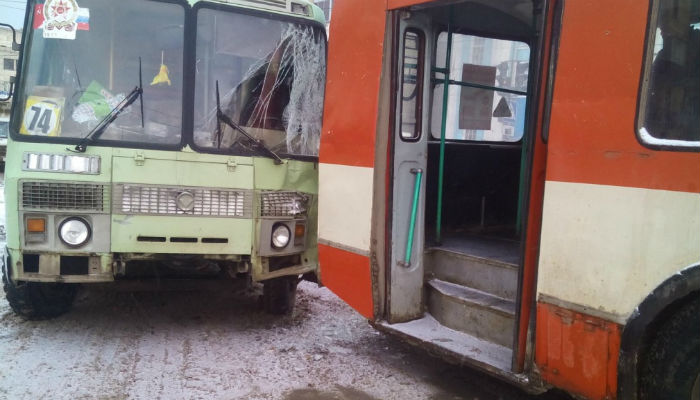 ВКирове наплощади Лепсе столкнулись автобус итроллейбус