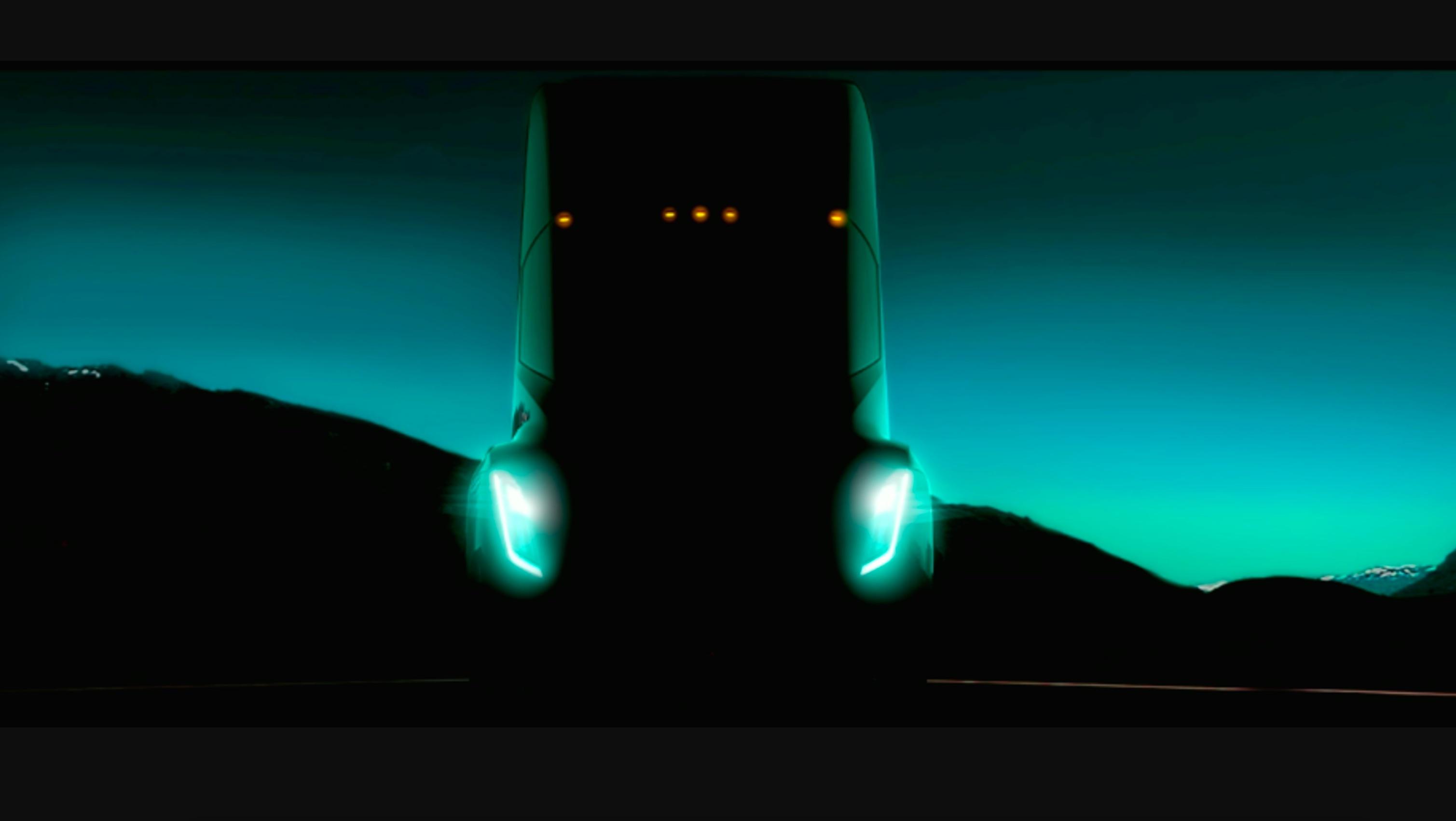 Вweb-сети появилось видео разгона электрогрузовика Tesla Semi