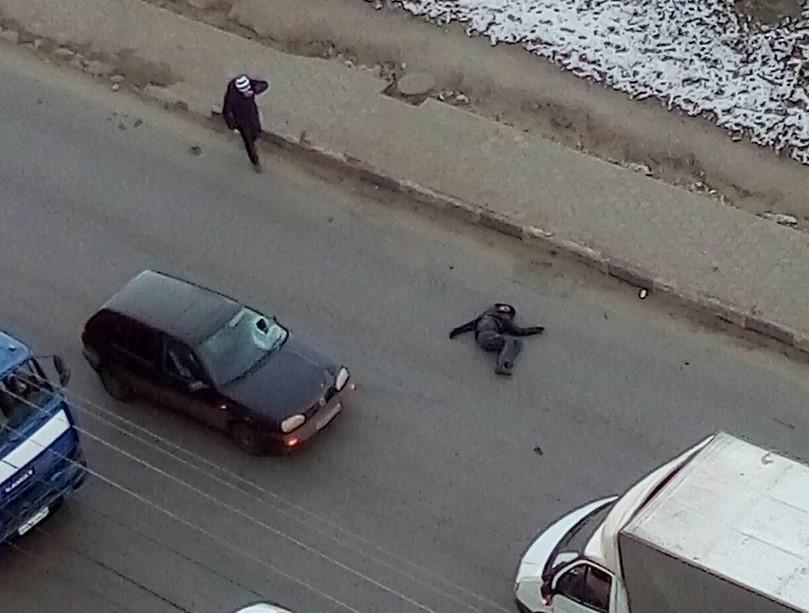 Вweb-сети интернет появилось видео сосбитым пешеходом вВоронеже