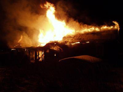 ВВологодской области из-за забывчивости владельца сгорел дом