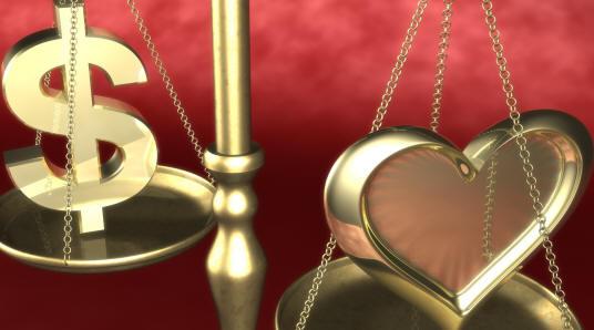 Исследование доказало, что любовь дороже денег