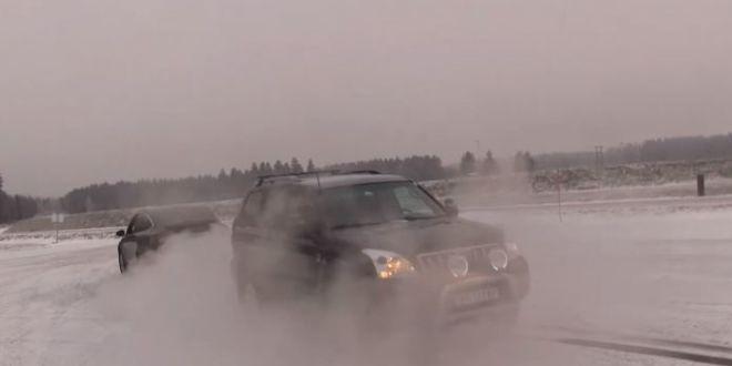Hummer H2 против Tesla Model X— Битва титанов